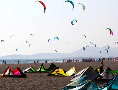 Ada Bojana kitesurfing